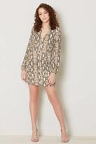 Sage The Label It Girl Snake Tie Mini Dress Brown Multi M