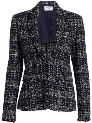 Akris Punto Tweed Double Breasted Blazer
