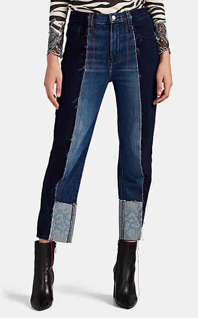 J Brand X KOZABURO Women's Joan Crop Straight Jeans - Blue