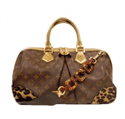 Louis Vuitton excellent (EX Monogram Canvas Leopard Print Stephen Bag