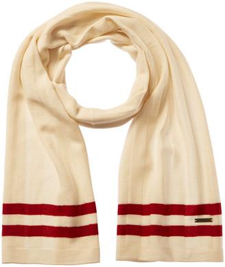 Bally Double Stripe Wool Scarf