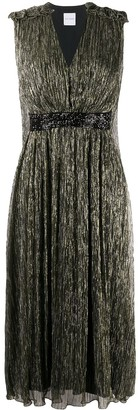 Halpern Metallic Midi Dress