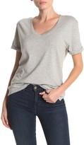 Frame V-Neck Cuffed Short Sleeve T-Shirt