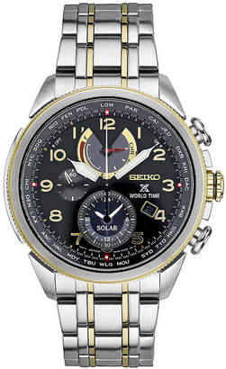 Seiko Mens Chronograph Two Tone Stainless Steel Bracelet Watch-Ssc508