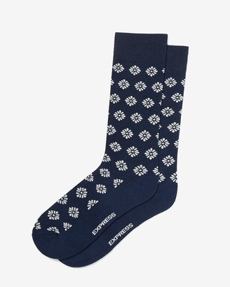 Express Geo Floral Dress Socks