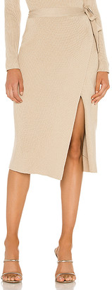 Line & Dot Alyssa Sweater Set Wrap Skirt