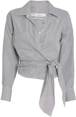 IRO Kensing Striped Tie-Front Button Down