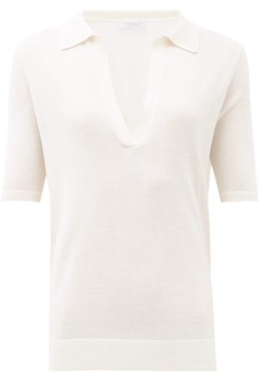 Gabriela Hearst Frank Jaipur Cashmere-blend Polo Top - Ivory