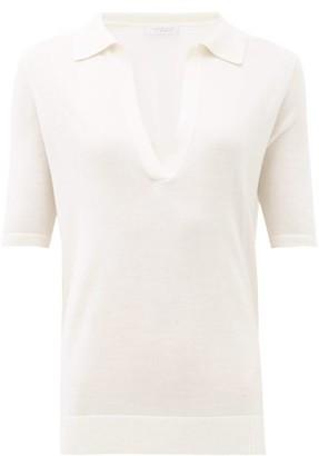Gabriela Hearst Frank Jaipur Cashmere-blend Polo Top - Womens - Ivory