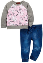 7 For All Mankind Raglan Top & Jogger Pant (Baby Girls)