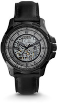 Fossil Dean Automatic Black Leather Watch