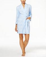 Lauren Ralph Lauren Shawl Collar Plaid Short Robe