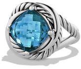 David Yurman Blue Topaz and Sterling Silver Ring