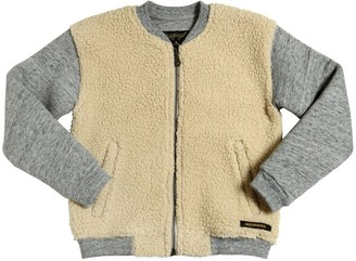Finger In The Nose COTTON & FAUX SHEARLING BOMBER JACKET