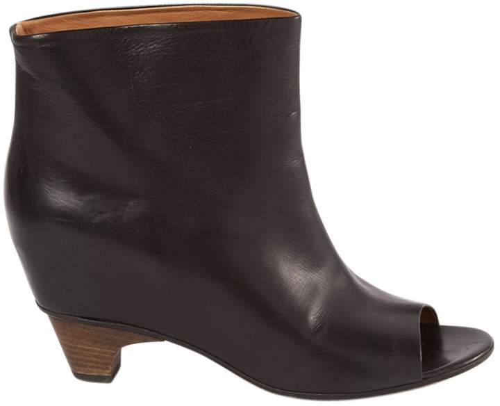 Maison Margiela Open Toe Boots In Leather