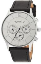 English Laundry Leather Strap Chronograph Watch