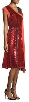 Marc Jacobs Women's Sequin Wrap Dress - Bright Red - Size 4