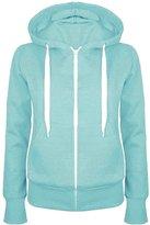 Oops Outlet Ladies Plain Hoody Girls Zip Top Womens Hoodies Sweatshirt Jacket Plus Size 6-22