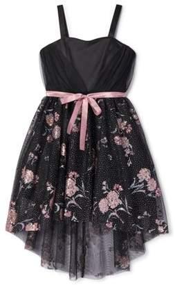 My Michelle Sleeveless Glitter Floral Tulle Formal Dressy Dress (Big Girls)