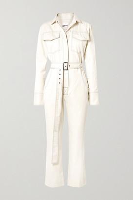 Orseund Iris Workwear Belted Cotton-gabardine Jumpsuit - Cream
