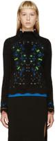 Peter Pilotto Black Angora Snowflake Sweater