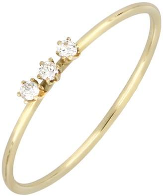 Bony Levy 18K Yellow Gold Triple Prong Set Diamond Ring - 0.03 ctw