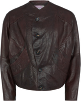 Pourpoint Leather Jacket Burgundy Size 44
