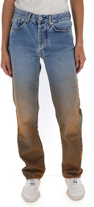 Off-White Off White Distressed Straight-Leg Jeans