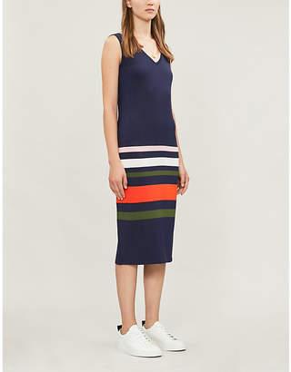 Ted Baker Contrast-stripe sleeveless stretch-knit dress