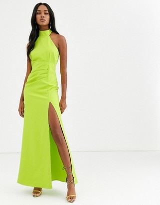 City Goddess halterneck maxi dress