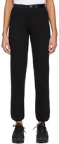 John Elliott Black Vintage Fleece Belted Lounge Pants