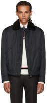 Brioni Black Fur Collar Jacket