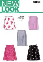 New Look 6843 Size A Misses' Skirts Sewing Pattern, Multi-Colour