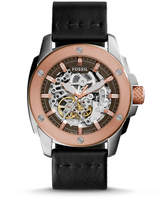 Fossil Modern Machine Automatic Black Leather Watch