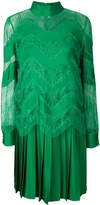 Valentino lace embroidered and pleated dress