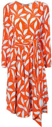Dvf Diane Von Furstenberg Leaf Print Dress