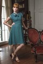 Shabby Apple Savannah Fit & Flare Dress Navy
