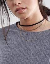 Asos Layered Fine Chains Choker Necklaces