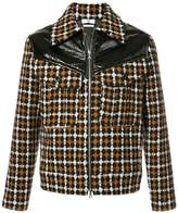 Cmmn Swdn Kurt contrast checked jacket