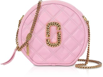 Marc Jacobs Leather The Status Round Crossbody Bag