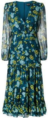 Saloni Floral Print Longsleeved Dress