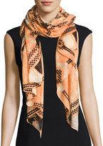 San Diego Hat Company Woven Geometric Scarf, Orange
