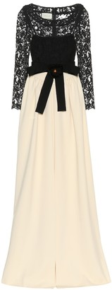 Gucci Lace and jersey gown