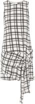 Marissa Webb Tristan tie-front checked silk-crepe mini dress