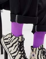 Asos Design ASOS DESIGN sport sock in neon purple