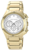 Vince Camuto Mens Goldtone Bracelet Watch with Silver-Tone Accents