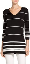 St. John Welted Stripe Knit Sweater
