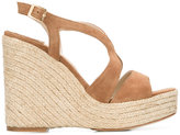 Paloma Barceló wedge sandals - women - Raffia/Leather/Suede - 35