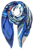 Laura Biagiotti Women's Blue Silk Foulard.