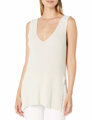 Cupcakes And Cashmere Women's Larissa Sleeveless V Neck Tunic Tank